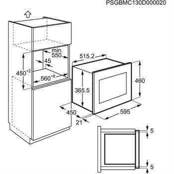 Microondas AEG MSB2548C-M Columna 60cm Altura 45cm   Grill 1100W   Micro 900 W   23 Litros   Acero Inoxidable Antihuellas - 5