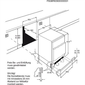 Frigorífico Integrable AEG SFB58221AF Cíclico con congelador AEG 81.5X59.6CM | Super Ahorro A++ - 5