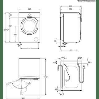 Lavadora AEG L6FBI821 Libre Bllanca de 8 kg a 1200 rpm ProSense Clase A+++ -20% | Serie 6000 - 9