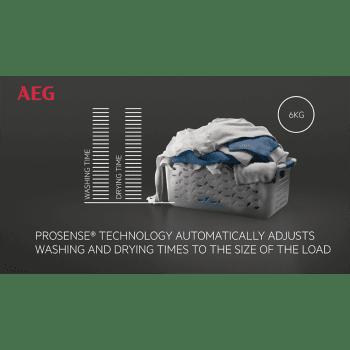 Lavasecadora Acero Inoxidable AEG L8WEC162S Lavado 10kg Función Secado 6kg Bomba de Calor 1600rpm A-40% DualSense | Serie 8000 - 4