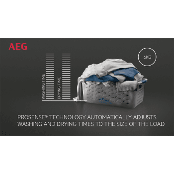 LavaSecadora AEG L7WEE962 Lavadora 9kg Secadora 6kg Inverter 1600rpm   Serie 7000 - 3