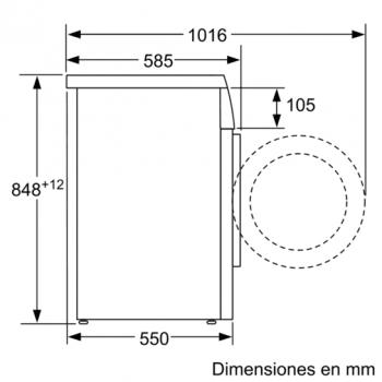 Siemens WU14Q48XES Lavadora Inox Antihuellas 8Kg 1400RPM | A+++ -30% - 5