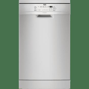 Lavavajillas AEG FFB51400ZM Inox de 45cm con 9 servicios   Super silencioso 47dB   Clase A+
