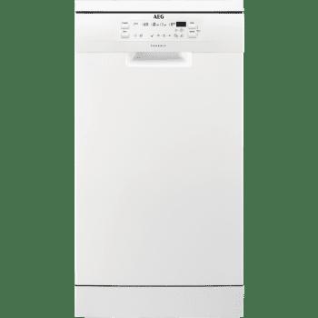 Lavavajillas AEG FFB51400ZW Blanco 45cm con 9 SERVICIOS y sistema silencioso de 47dB | Clase A+ - 1
