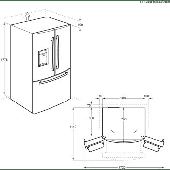 Frigorífico Americano AEG RMB86321NX A++ French Door Inox Antihuellas | Envío + Instalación Gratis - 6
