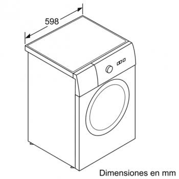 Siemens WU12Q48XES Lavadora 8kg Inox Antihuellas | 1200rpm | A+++ -30% | Promocionada - 8