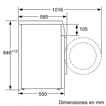 SIEMENS WU12Q468ES LAVADORA BLANCA 8KG 1200RPM A+++-30% - 5