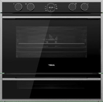 Horno Teka Doublecook HLD 45.15 en Cristal Negro de 60 cm con 2 cavidades para cocinar Clase A