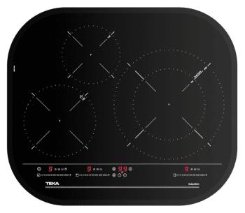 Placa de Inducción Teka IRC 6320  (Ref. 10210207) de 59cm | 3 zonas | Cantos Circulares | Regulación Independiente | Stock