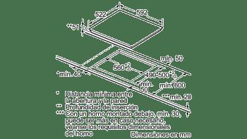 Placa de Inducción Bosch PID631BB3E de 60 cm con 3 Zonas de cocción con función Sprint | TouchSelect | Serie 4 - 5