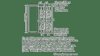 BALAY 3KIB1820 COMBI INTEGRABLE CICLICO 177.2x54.1CM A+ - 2