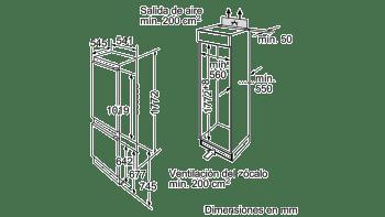 BALAY 3KIB1820 COMBI INTEGRABLE CICLICO 177.2x54.1CM A+ - 3