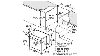 Horno Pirolítico Balay 3HB5888N0 | Cristal Negro | Abatible | Clase A  | Serie Cristal - 4