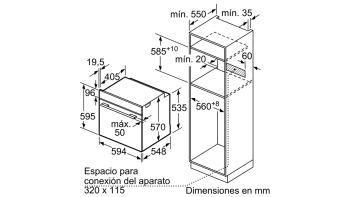 Horno Pirolítico Balay 3HB5888N0 | Cristal Negro | Abatible | Clase A  | Serie Cristal - 5