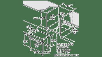 BALAY 3HB4331B0 HORNO BLANCO MULTIFUNCION ABATIBLE A SERIE ACERO / STOCK - 4