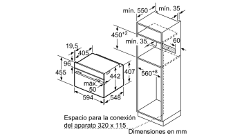 BALAY 3CB5351B0 HORNO CRISTAL BLANCO MULTIFUNCION 45CM ABATIBLE SERIE CRISTAL - 4