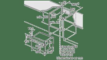 Horno Compacto con Vapor y Microondas Balay 3CH5656A0 | Cristal Gris | 45cm de Altura | Clase A+ - 2