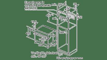 Horno Compacto con Vapor y Microondas Balay 3CH5656A0 | Cristal Gris | 45cm de Altura | Clase A+ - 5