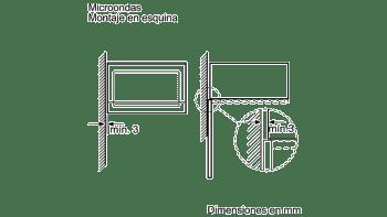 BALAY 3CG4172X0 MICROONDAS CRISTAL NEGRO INOX GRILL 20L SERIE ACERO - 4