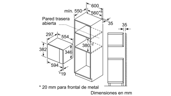BALAY 3CP4002X0 MICROONDAS CRISTAL NEGRO INOX SIN GRILL 20L SERIE ACERO - 2