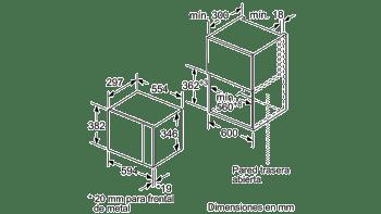 BALAY 3CP4002X0 MICROONDAS CRISTAL NEGRO INOX SIN GRILL 20L SERIE ACERO - 3
