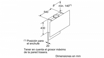 Campana Decorativa Vertical BALAY 3BC497GG   90 cm  Gris Antracita   730 m³/h   Encastrable  Serie Cristal  Stock - 9