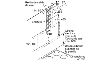 BALAY 3BC587GG CAMPANA INCLINADA CRISTAL GRIS ANTRACITA 80CM 680M3/H SERIE CRISTAL - 13