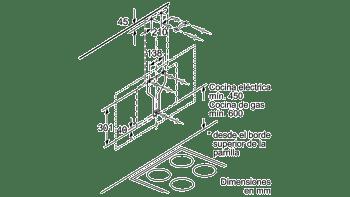 BALAY 3BC567GB CAMPANA INCLINADA CRISTAL BLANCO 60CM 660M3/H SERIE CRISTAL - 8