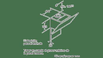 BALAY 3BC567GB CAMPANA INCLINADA CRISTAL BLANCO 60CM 660M3/H SERIE CRISTAL - 9