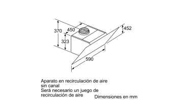 BALAY 3BC567GG CAMPANA INCLINADA CRISTAL GRIS ANTRACITA 60CM 660M3/H SERIE CRISTAL - 9