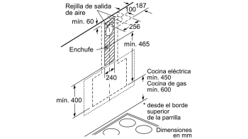 BALAY 3BC567GG CAMPANA INCLINADA CRISTAL GRIS ANTRACITA 60CM 660M3/H SERIE CRISTAL - 12