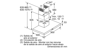 BALAY 3BC097GNC CAMPANA INOX CRISTAL NEGRO 90CM 710M3/H SERIE CRISTAL - 13