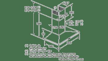 BALAY 3BC697EX CAMPANA INOX 90CM 750M3/H - 7