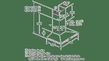 BALAY 3BC677EX CAMPANA INOX 75CM 750M3/H - 10