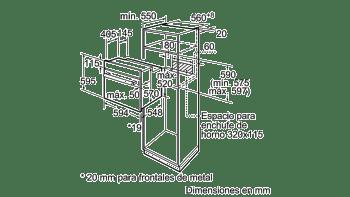 BALAY 3HB1000B0 HORNO BLANCO CONVENCIONAL ABATIBLE A SERIE ACERO - 3