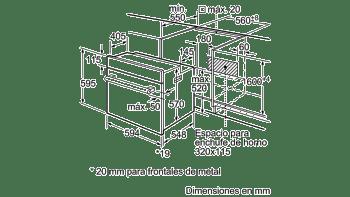 BALAY 3HB1000B0 HORNO BLANCO CONVENCIONAL ABATIBLE A SERIE ACERO - 5