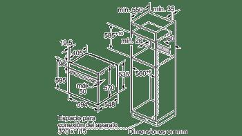 Horno Bosch HBA512BR0 Inoxidable de 60 cm | Calentamiento 3D Profesional | Clase A | Serie 4 - 5