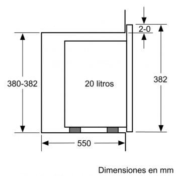 Microondas Bosch BEL523MS0 Integrable Inox 20 l 800 W Grill | Recetas Gourmet | Serie 4 | STOCK - 8