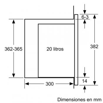 Microondas Bosch BEL523MS0 Integrable Inox 20 l 800 W Grill | Recetas Gourmet | Serie 4 | STOCK - 10