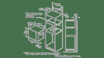 BOSCH BEL554MS0 MICROONDAS INOX CRISTAL NEGRO GRILL 25L - 3
