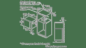 BOSCH BEL554MS0 MICROONDAS INOX CRISTAL NEGRO GRILL 25L - 5