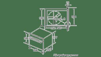 Horno 90cm Multifunción Bosch VBD5780S0 Pirolítico 112L | 10 Funciones | Cristal Negro | A+ - 2