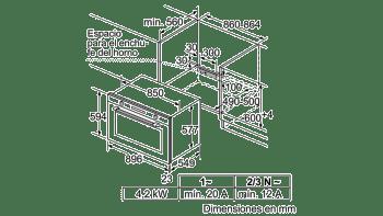 Horno 90cm Multifunción Bosch VBD5780S0 Pirolítico 112L | 10 Funciones | Cristal Negro | A+ - 4