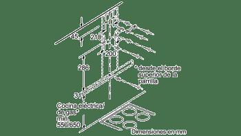 Campana decorativa de pared Bosch DWB97FM50 en Acero inoxidable de 90 cm a 739 m³/h | Clase B | Serie 4 - 8