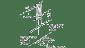 Campana decorativa de pared Bosch DWB77IM50 en Acero inoxidable de 75 cm a 710 m³/h | Clase B | Serie 4 - 8