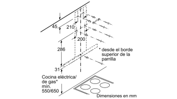 Campana decorativa de pared Bosch DWB97IM50 en Acero inoxidable de 60 cm a 752 m³/h | Clase B | Serie 4 | Stock - 7
