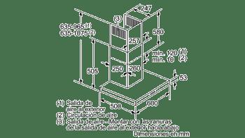 Campana decorativa de pared Bosch DWB97IM50 en Acero inoxidable de 60 cm a 752 m³/h | Clase B | Serie 4 | Stock - 8