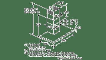 Campana decorativa de pared Bosch DWB96BC50 en Acero inoxidable de 90 cm a 619 m³/h | Clase A | Serie 2 - 9