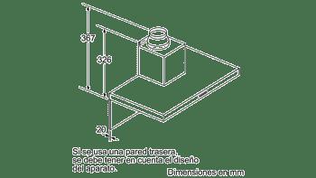Campana decorativa de pared Bosch DWB76BC50 en Acero inoxidable de 75 cm a 619 m³/h | Clase B | Serie 2 - 6