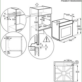 Horno de Vapor Pirolítico AEG BSE577321M Inox antihuellas Multifunción 72 l SteamCrisp con Sonda térmica | Clase A+ - 5